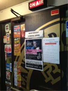 ピーナッツボウル1015の入口。千葉の老舗ライブハウスです!