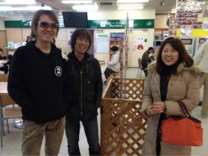 森さんはまだいなかったんですけど。斉藤さんとここで待ち合わせだそうです!